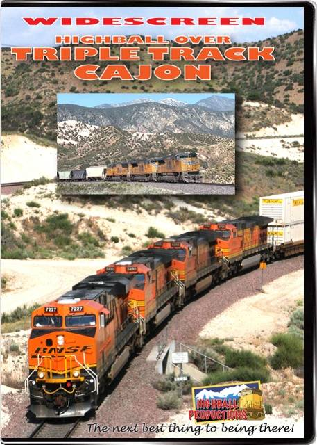 Highball Over Triple Track Cajon - BNSF and Union Pacific in